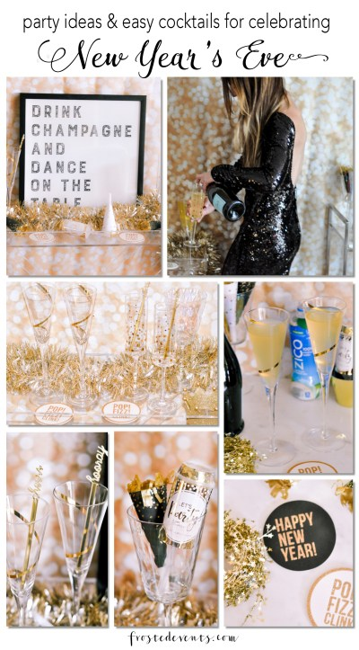 New Years Eve Party Ideas and  Cocktails Pineapple Coconut Prosecco Sparkler Recipe with ZICO Coconut Water via Misty Nelson frostedMOMS blog @frostedevents