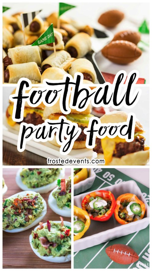 Football Party Food Snack Ideas and Party Appetizers for Super Bowl Party via frostedevents