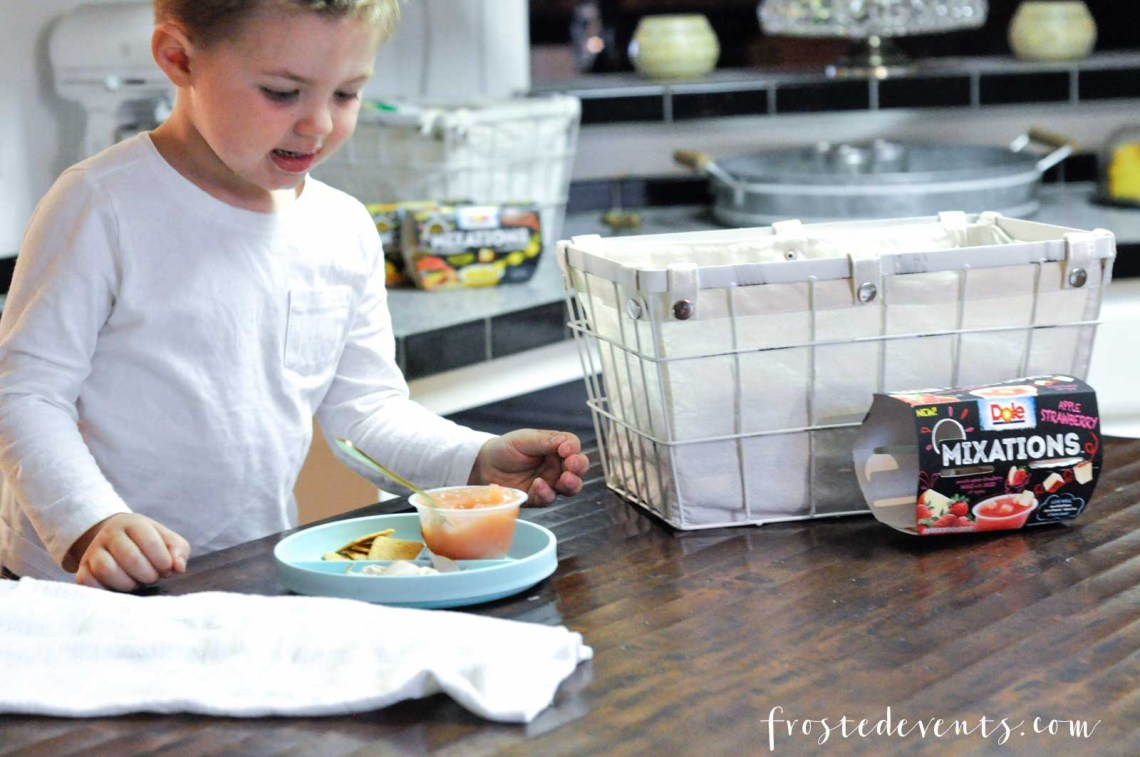 Quick Snacks and Simple Ideas for Mixing Up Kid's Meals via frostedmoms.com @frostedevents with New DOLE Mixations