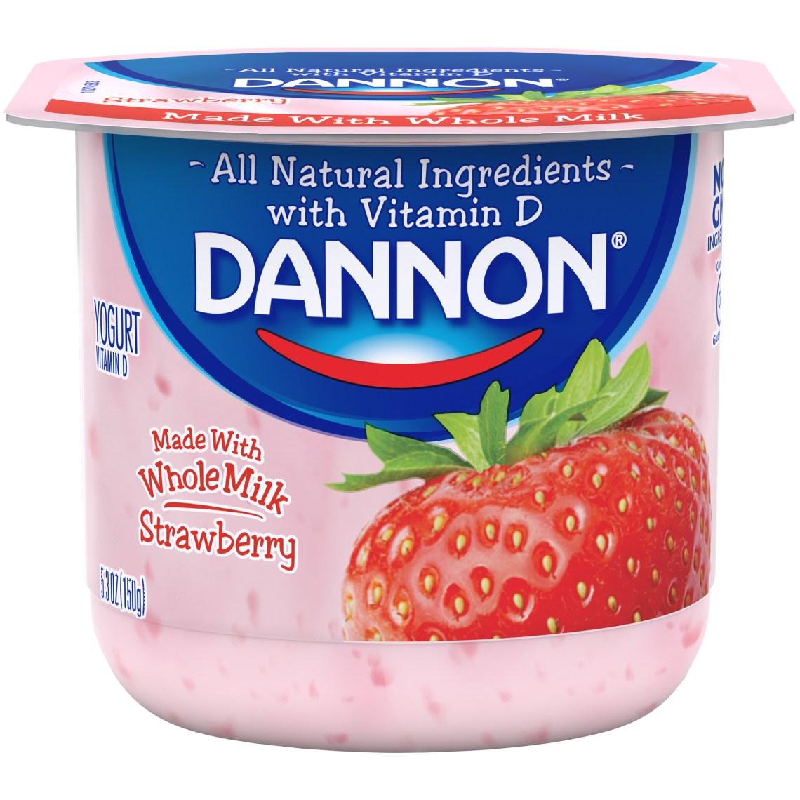 Dannon Whole Milk - Strawberry