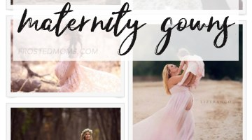Maternity Gowns for Maternity Photo Shoots -- Pregnancy and New Motherhood via frostedMOMS @frostedevents