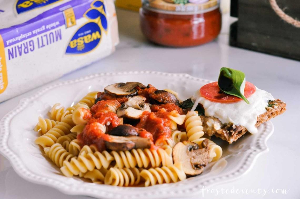 Tomato Mozzarella Caprese Recipe with WASA Crispbread via Misty Nelson frostedMOMS @frostedevents