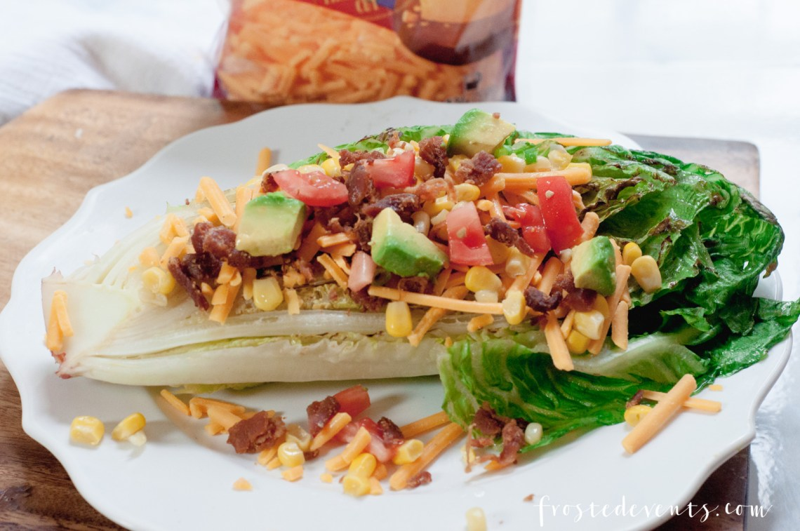 Delicious Recipes Cheese Recipes - Grill Recipes - Roasted Romaine Salad made with real, fresh cheese via Misty Nelson @frostedevents