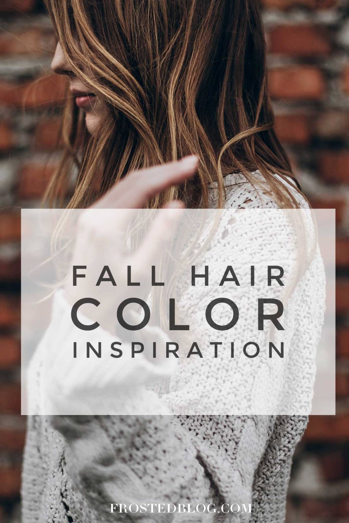 Fall Hair Color Ideas and Inspiration -- Fall hair color photos via Misty Nelson frostedblog.com