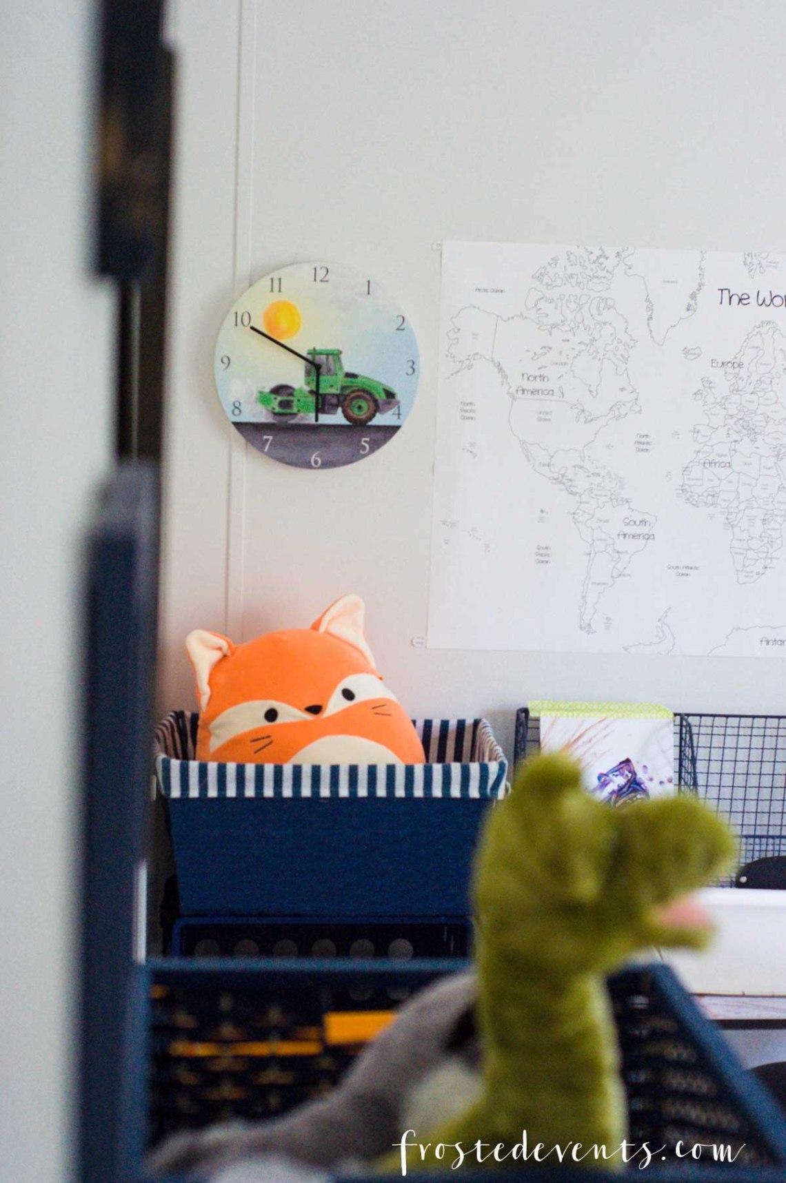 Kids Room Decor Ideas - Cute Construction Theme with Mouse & Magpie -- Boys Room Ideas