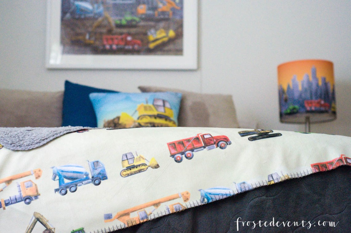 Kids Room Decor Ideas - Cute Construction Theme with Mouse & Magpie -- Boys Room Ideas