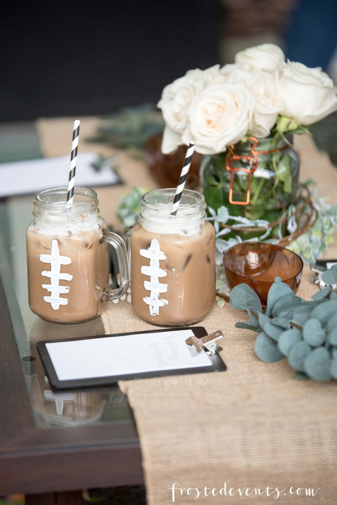 Fantasy Football League Party for Ladies Coffee Drink Ideas via frostedblog Misty Nelson