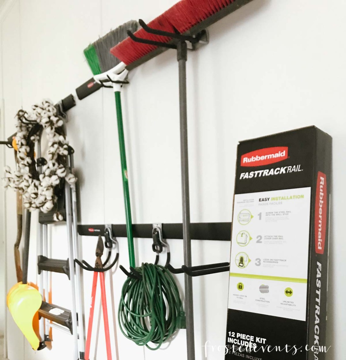 Garage Organization That's a Game Changer with Rubbermaid FastTrack via frostedblog.com -- Misty Nelson- Influencer, lifestyle blogger and mom