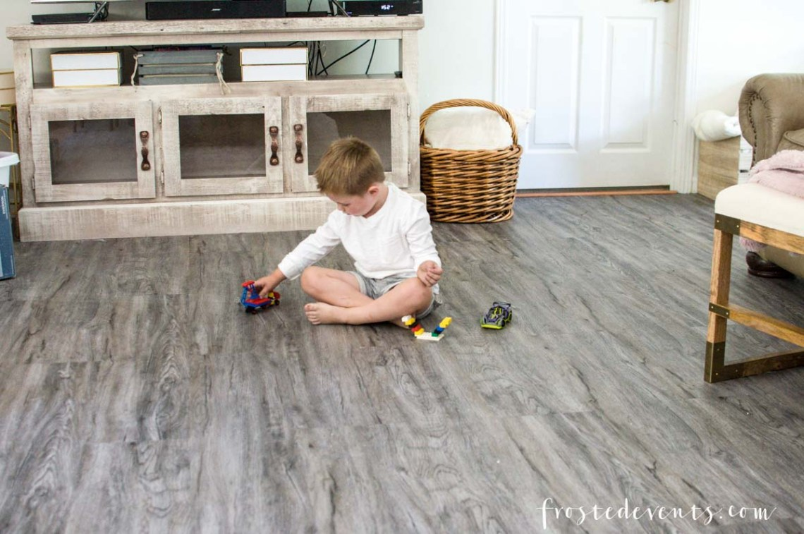 Luxury Vinyl Flooring Reveal Our Latest Home Renovation DIY Project Via Misty Nelson Frostedblog