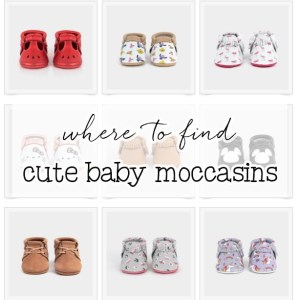 Baby Moccasins - Cute shoes for baby, newborn via Misty Nelson, frosted blog @frostedevents #baby #babyregistry #newborn