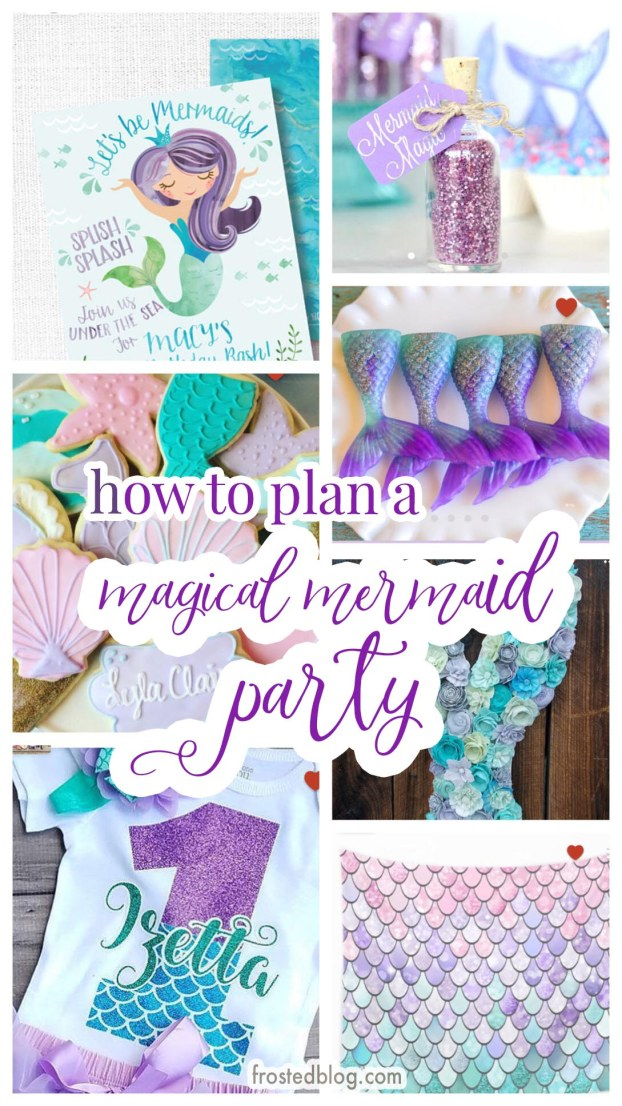 Mermaid Party Ideas - How to Plan a Magical Mermaid Party - mermaid party decorations, mermaid party favors, mermaid party cake via Misty Nelson, frostedblog.com @frostedevents