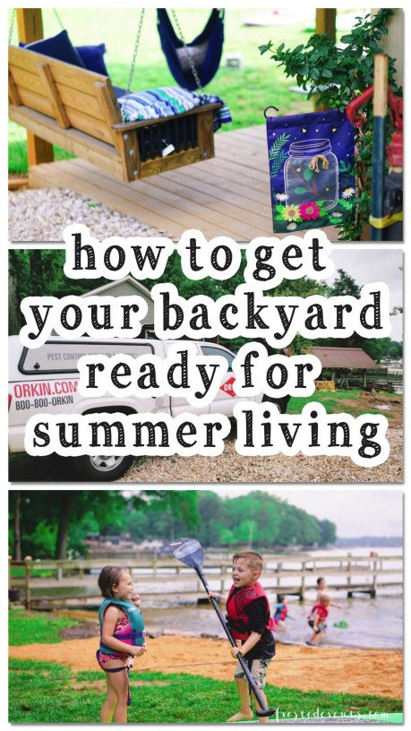 Outdoor Living - Getting your backyard ready for summer fun via Misty Nelson, frostedblog.com @frostedevents #outdoorspaces #outdoorliving #summerideas #backyard