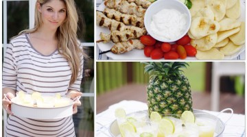 Summer Party Recipe Entertaining Ideas - Ibotta App - Sundried Tomato Pasta and Pineapple Margaritas via Misty Nelson