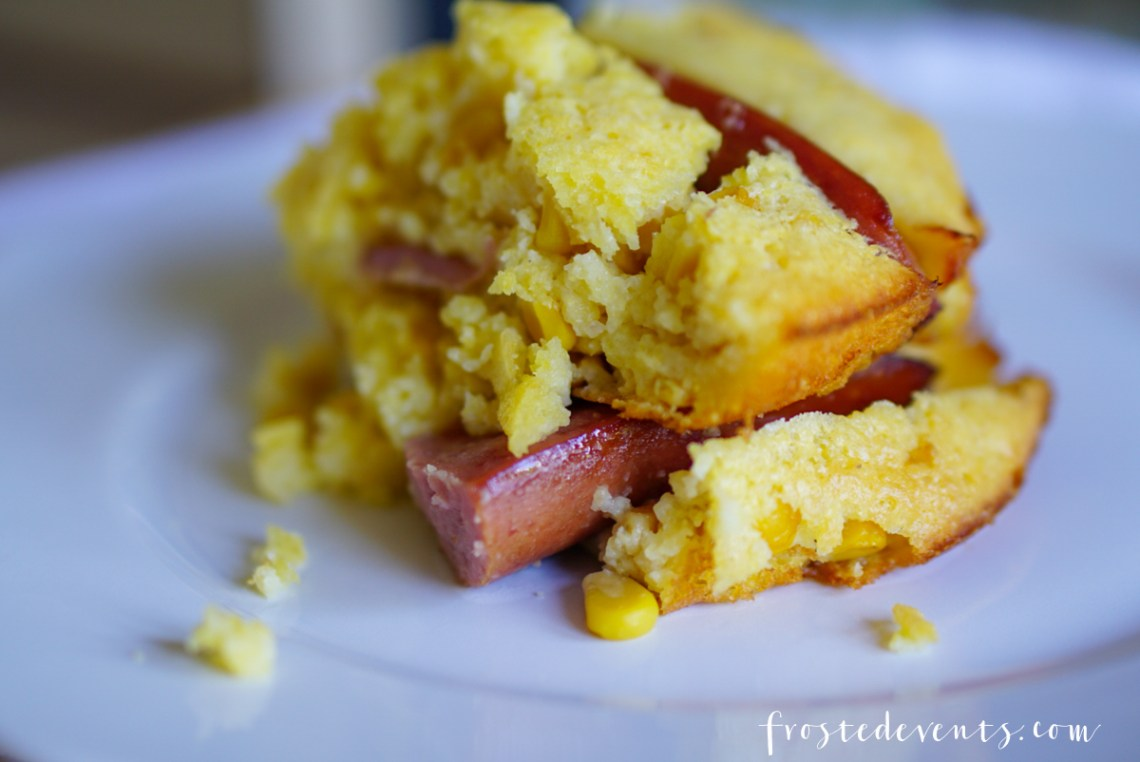 Corn Pudding Casserole Recipe -Comfort Foods - Eckrich Sausage dinner recipes- casserole recipes frostedevents.com