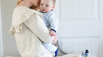 Baby Gas Relief - How to Soothe Baby Tummy Troubles via Misty Nelson, Frosted Blog