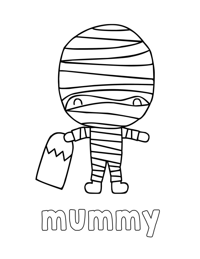 Halloween Coloring Pages for Kids - Print and Color