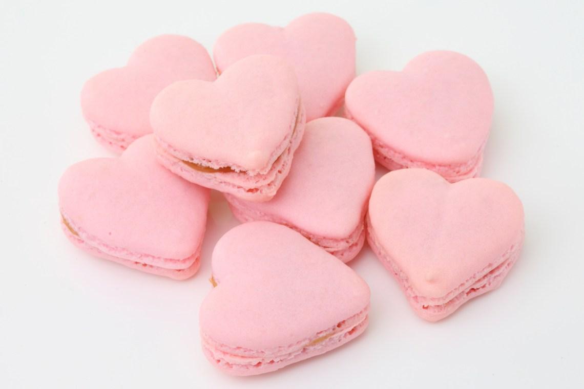 Valentines Day Treats - Heart macaroons