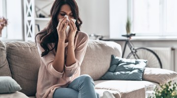 Home Remedies for Cold, Sinus Infection, Headache - Sick female