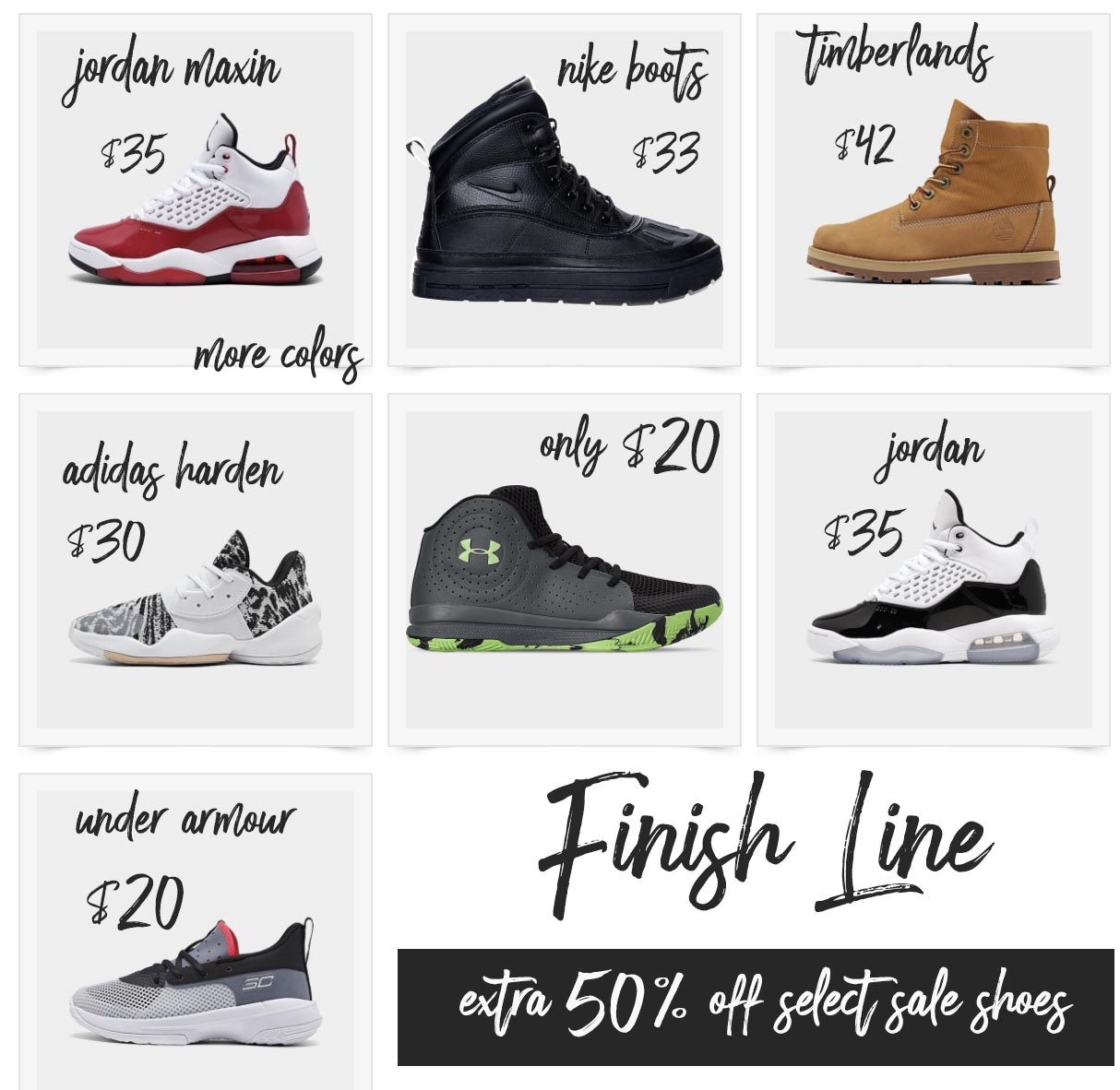 Finish Line Extra 50 Off Sale on Shoes