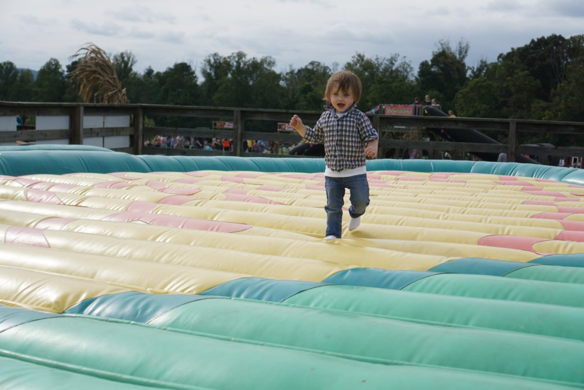 Corn Mazes in NC - Pumpkin Patches and Fall Things to Do - North Carolina - Alpha and Omega - jumping pillow