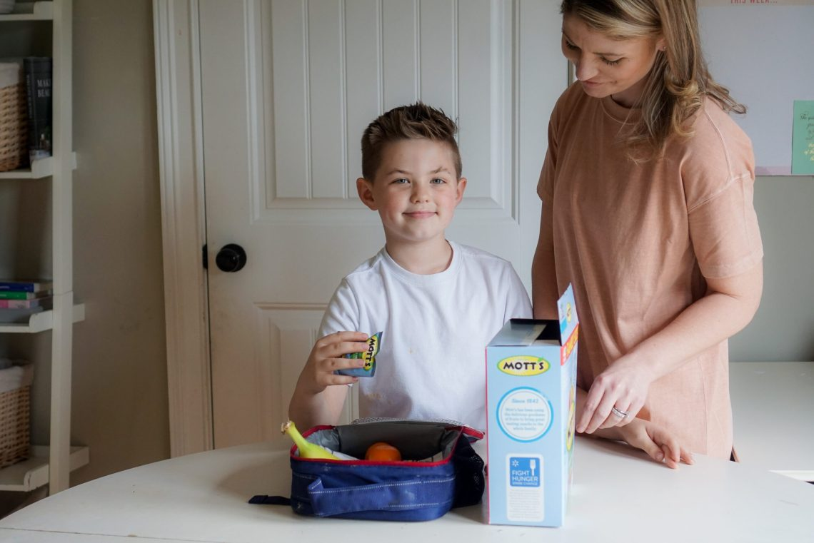 Mom and son kids lunch ideas - Misty Nelson mom blogger and influencer