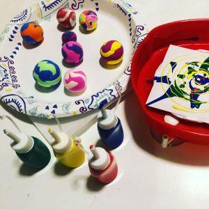 Spin Art + Bouncy Balls