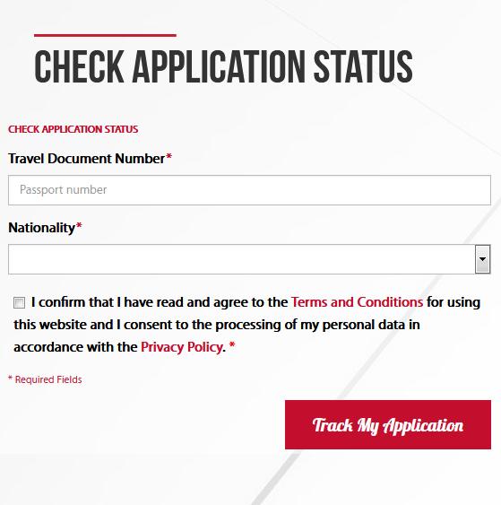 Application Status Check Form EMGS