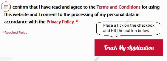 malaysia online visa check consent screenshoot