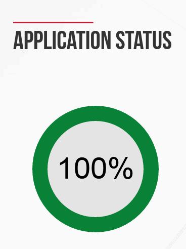 EMGS Application Status Progress bar