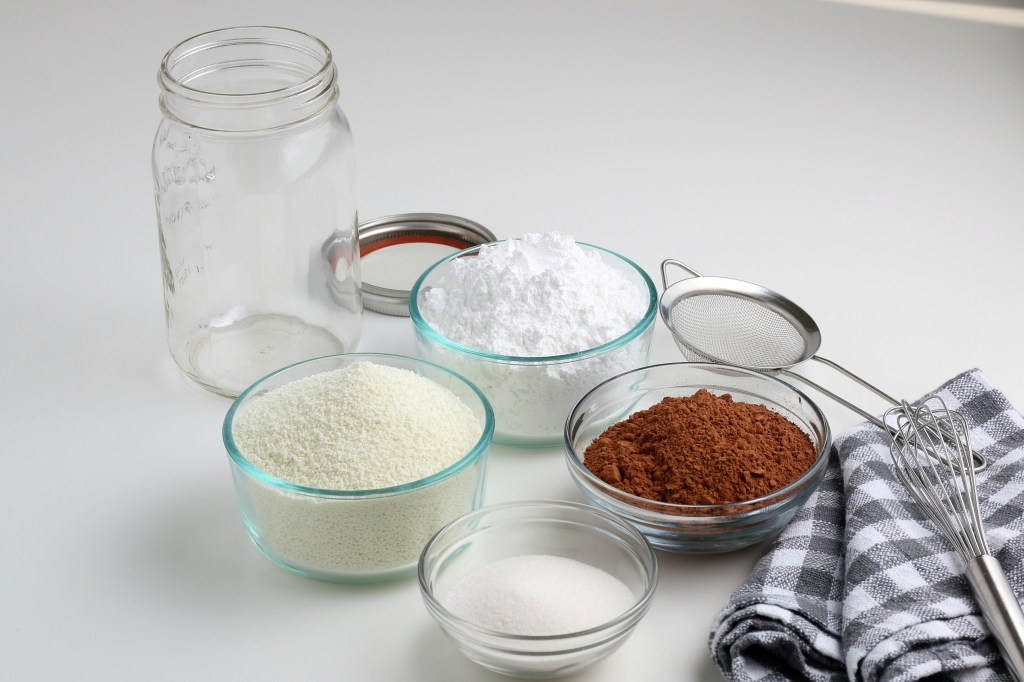 ingredients for homemade hot chocolate mix