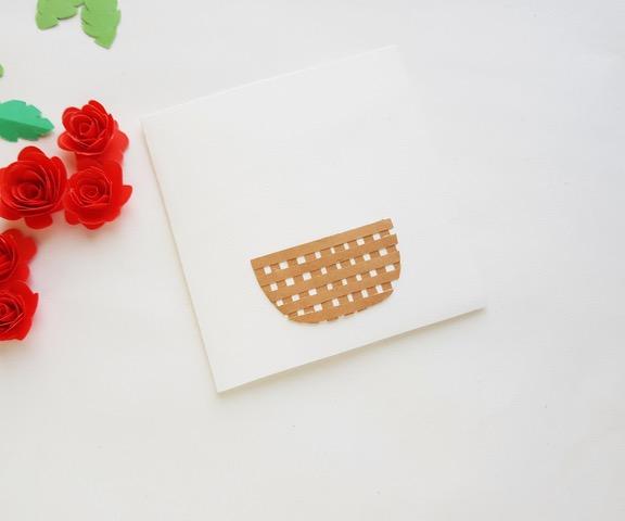 process shot of paper flower bouquet