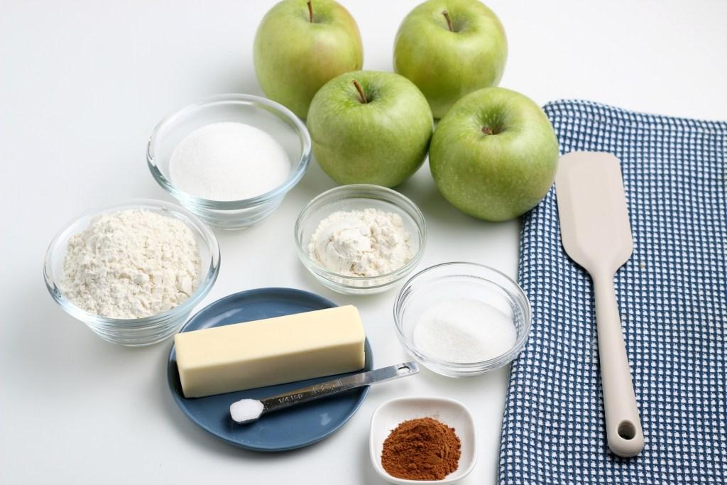 ingredients for apple crostata
