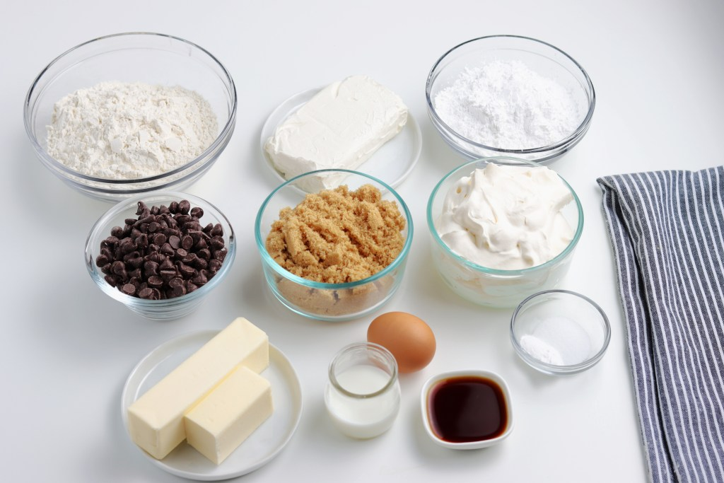 ingredients for easy cookie pizza recipe