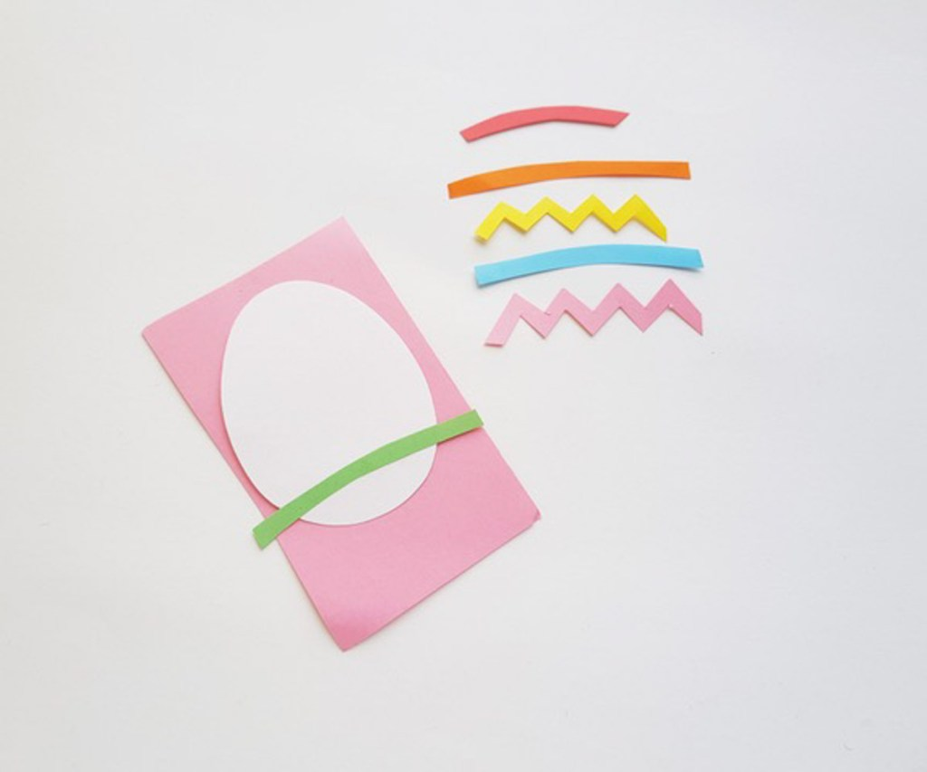 step 1 to make an Easter Egg Paper Craft
