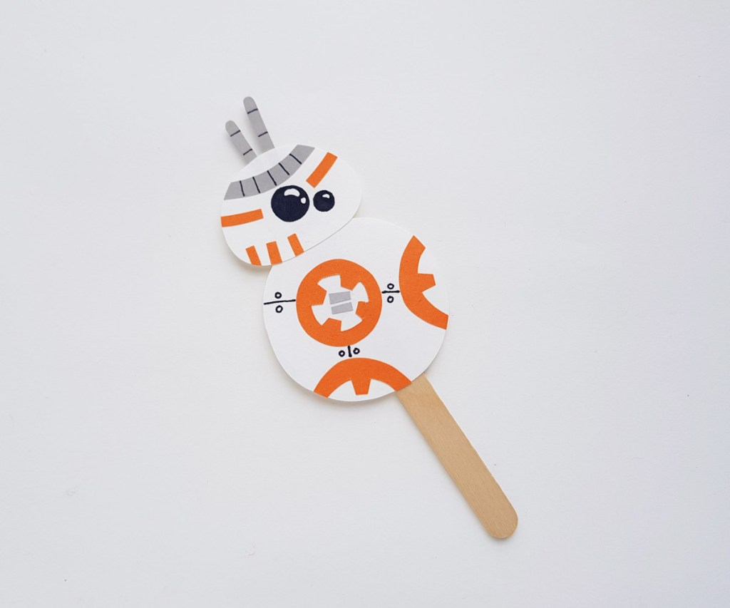Star Wars BB-8 papercraft finished