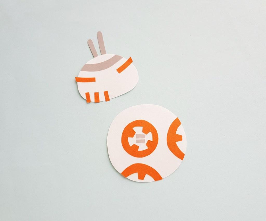 Star Wars BB-8 papercraft antennas added