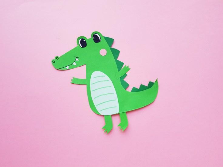 Papercraft Alligator