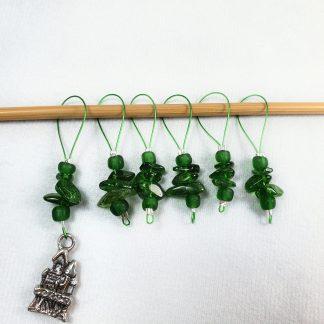 Grüne Strickmarkierer Chromdiopsid