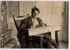 Robert Frost Writing at The Frost Place