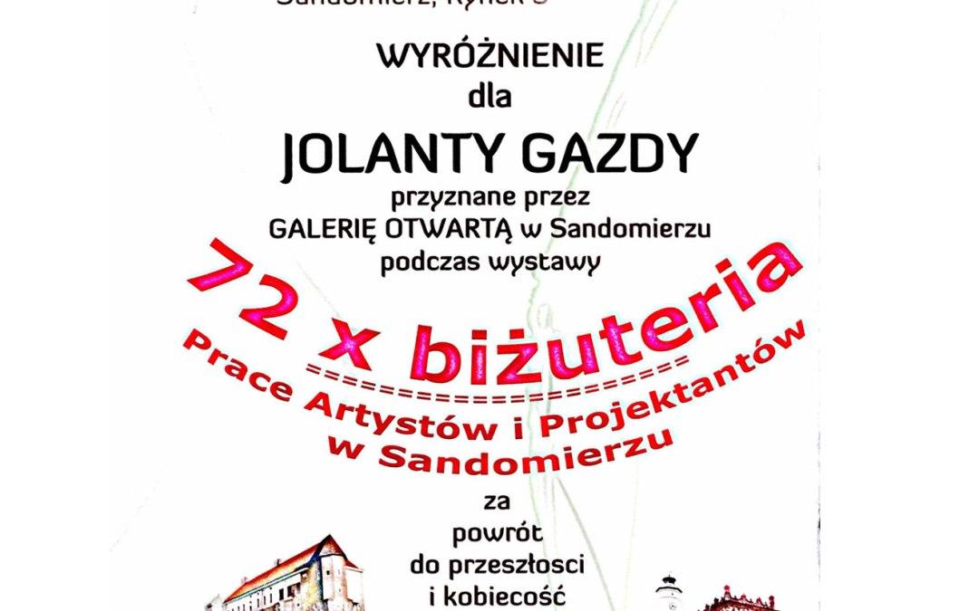 Wystawa W Galerii Otwartej w Sandomierzu. Dziękuję bardzo za Wyróżnienie!