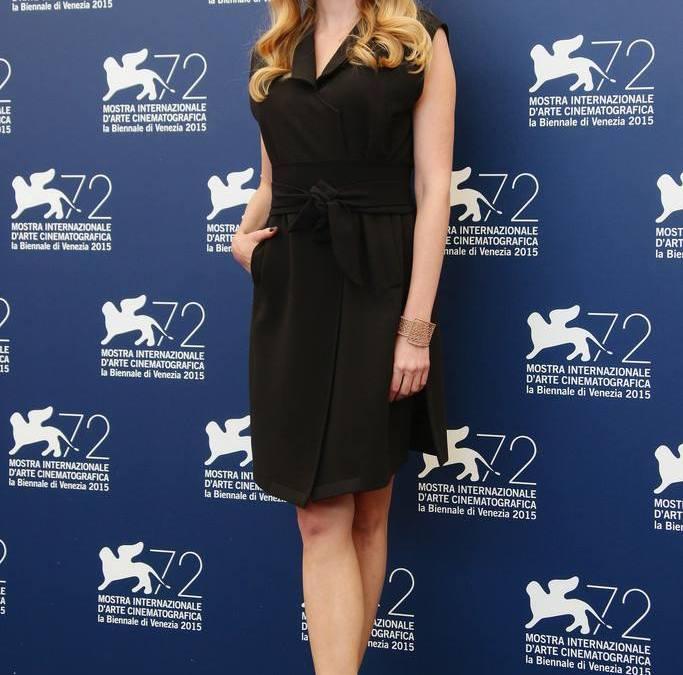 Paulina Chapko na konferencji prasowej w Wenecji