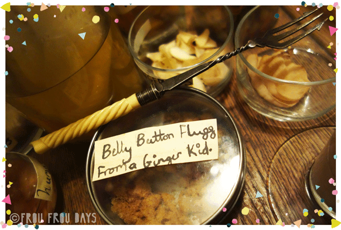 Jars for halloween full of weird things: belly button fluff from a ginger kid