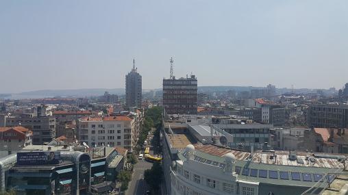 Θέα απο τα γραφεία της Godaddy στο Βελιγράδι