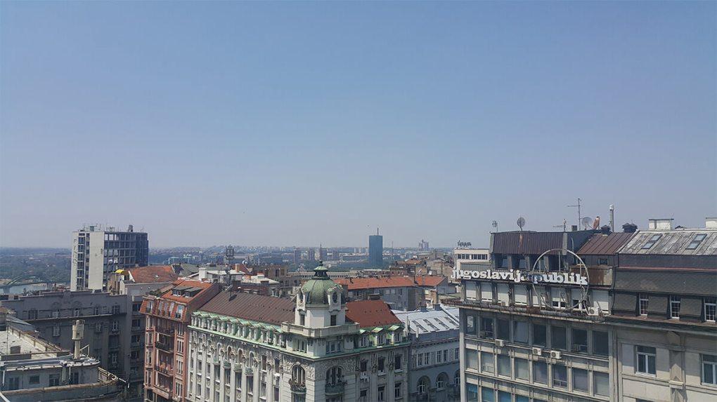 Η θέα του Βελιγραδίου απο τα γραφεία της GoDaddy