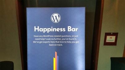 Το Happiness Bar στο WordCamp Europe 2018