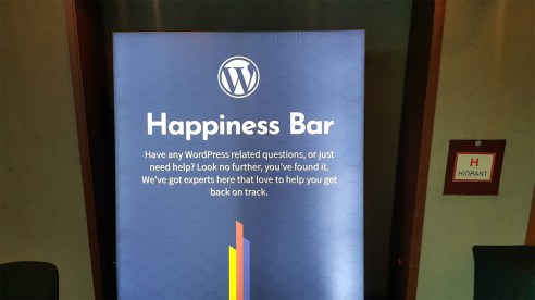 Το Happiness Bar στο WordCamp Europe 2018