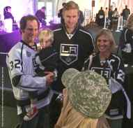 Forward Jeff Carter poses for a photo