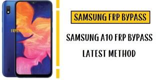 Samsung A10 FRP Bypass - Unlock Google Account (SM-A105F)