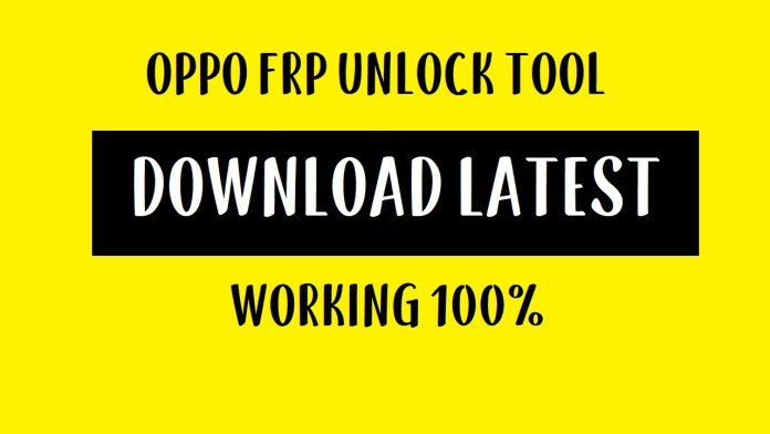 Oppo FRP Tool - Unlock FRP lock from All Oppo Devices