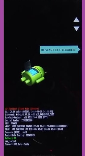 Moto FAstboot mode to FRP Bypass unlock tool